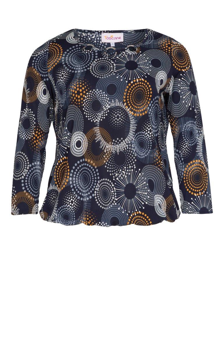 Tee-shirt imprimé col rond avec anneaux