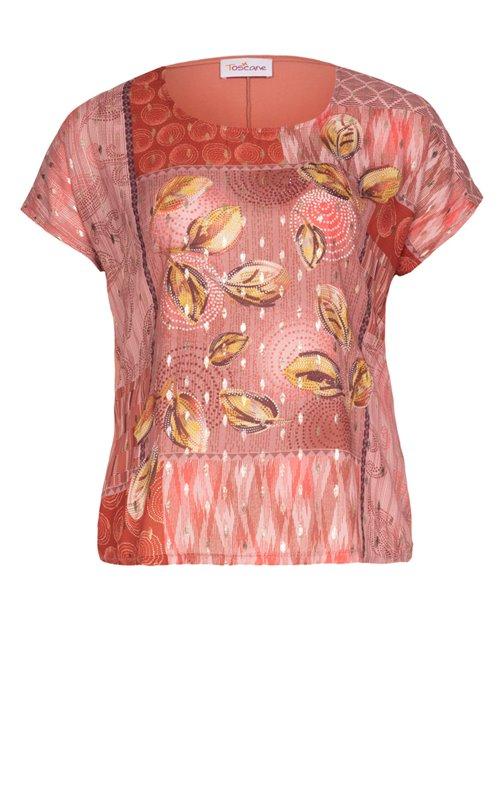 Tee-shirt avec motifs plumes