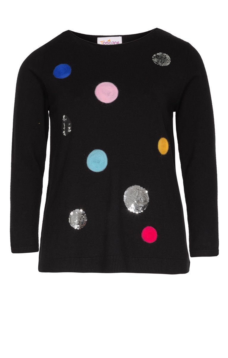 PULL COL ROND AVEC SEQUINS