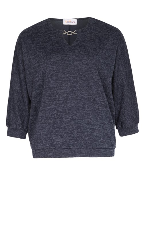 PULL MAILLE COUPEE COUSUE + BIJOU