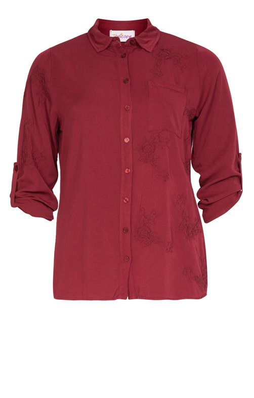 CHEMISE COL CLASSIQUE BRODEE