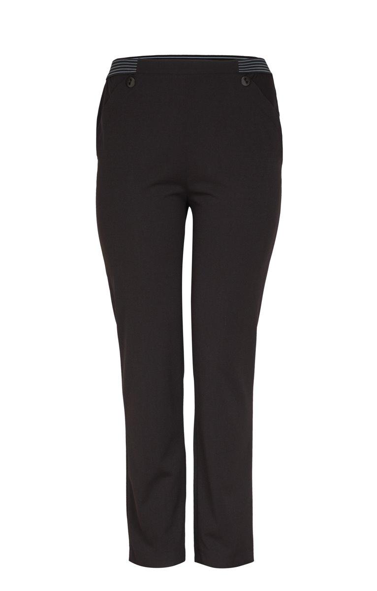 Pantalon crepe jambe longue