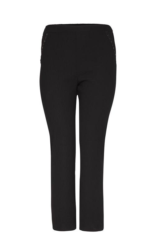Pantalon large en crepe