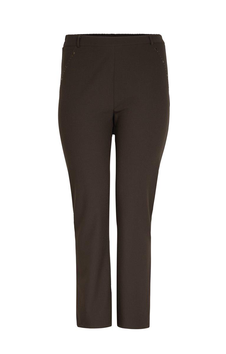 Pantalon slim, taille élastiquée