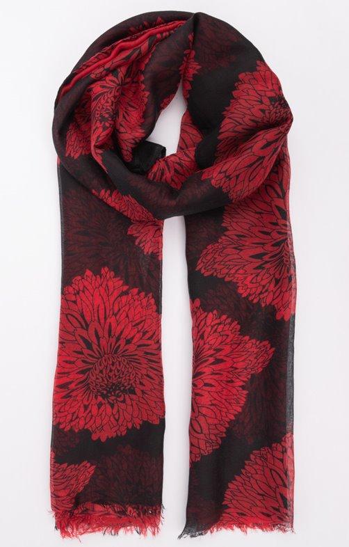 Foulard classique rouge et noir