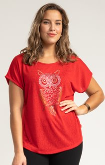 Tee-shirt UNI HIBOU STRASS