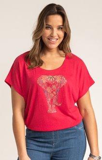 Tee-shirt LIN ELEPHANT + STRASS