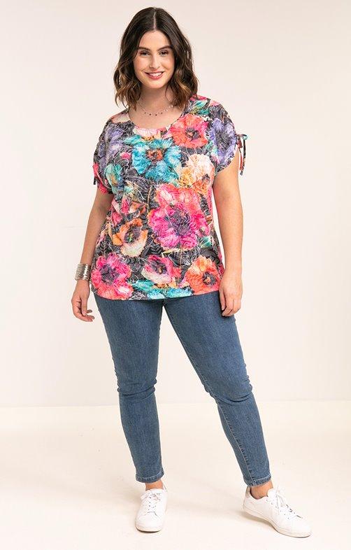 Tee-shirt à fleurs