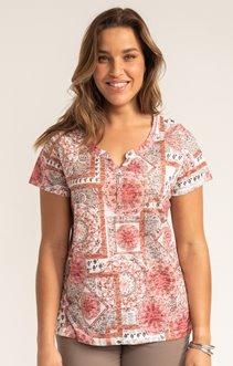 Tee-shirt PATCH ROSE ET STRASS