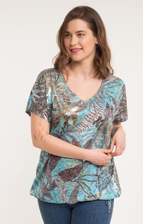 Tee-shirt feuilles de palmier