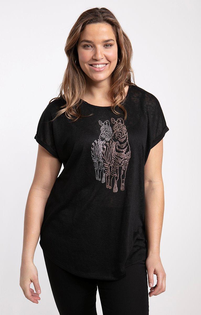 tee-shirt maille fine unie type lin