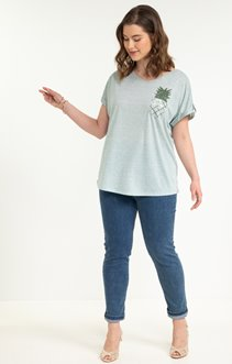 tee-shirt POCHE ANANAS