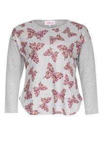 Tee-shirt chiné avec imprimé papillons