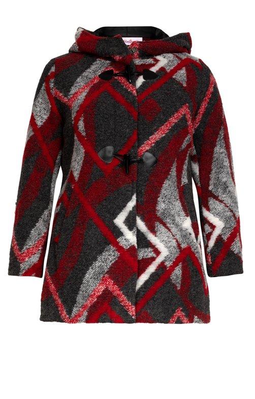 Manteau mi-long en laine bouillie