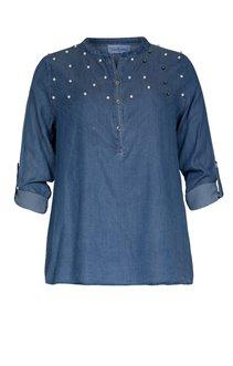Chemise boutonnée à perles