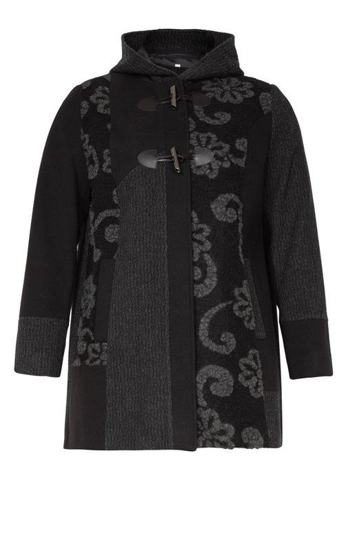 Manteau mi-long et capuche
