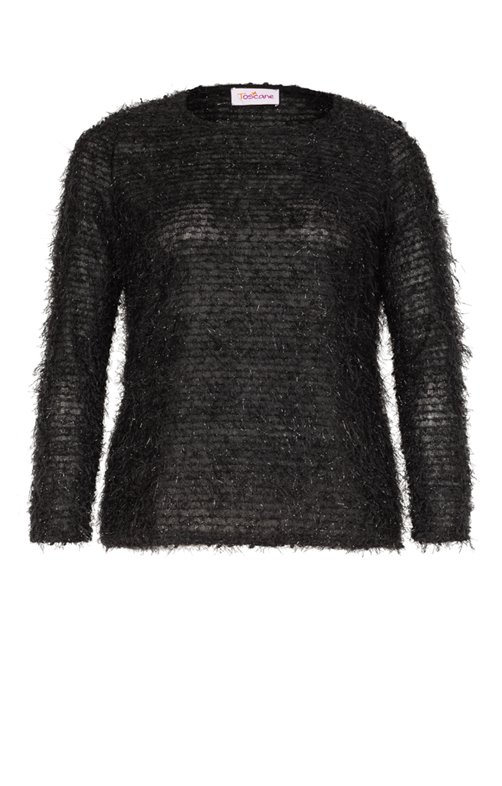 PULL COL ROND EN MAILLE POILUE
