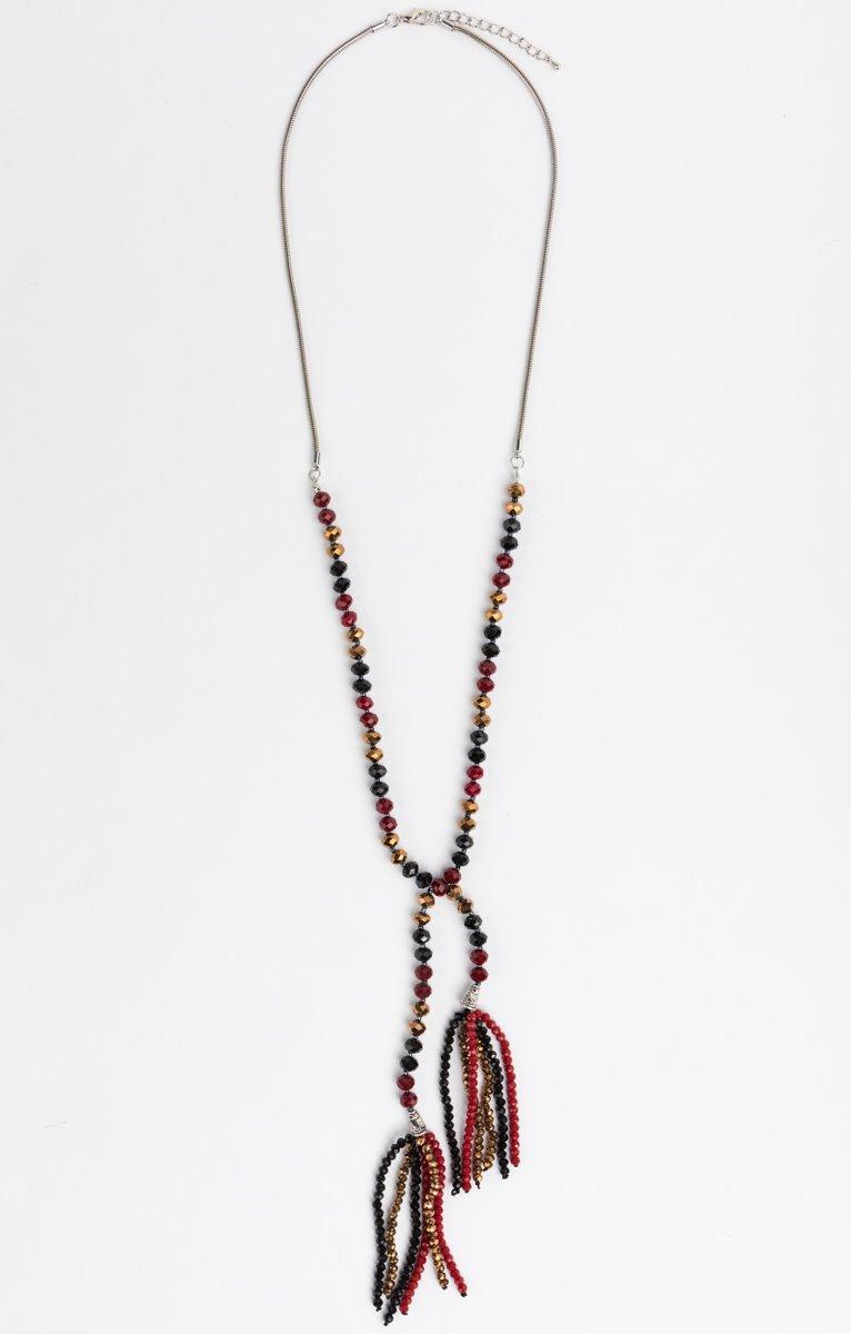 Sautoir cravatte perles