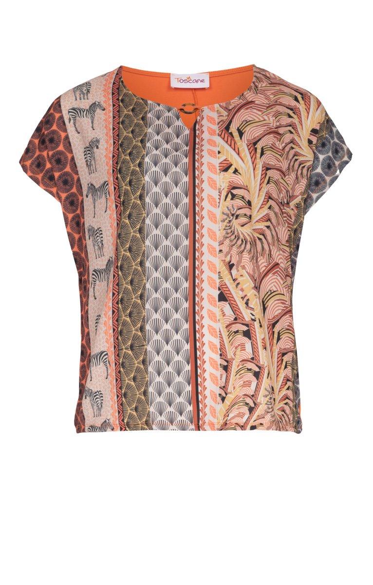 Tee-shirt à motifs ethniques avec bijou
