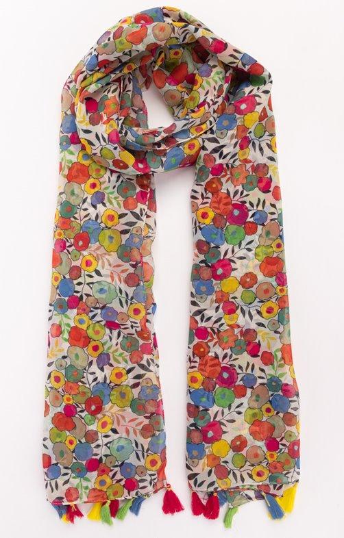 Foulard en polyester voile