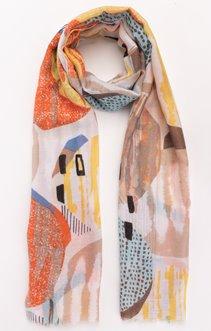 Foulard matière texturée impression rond