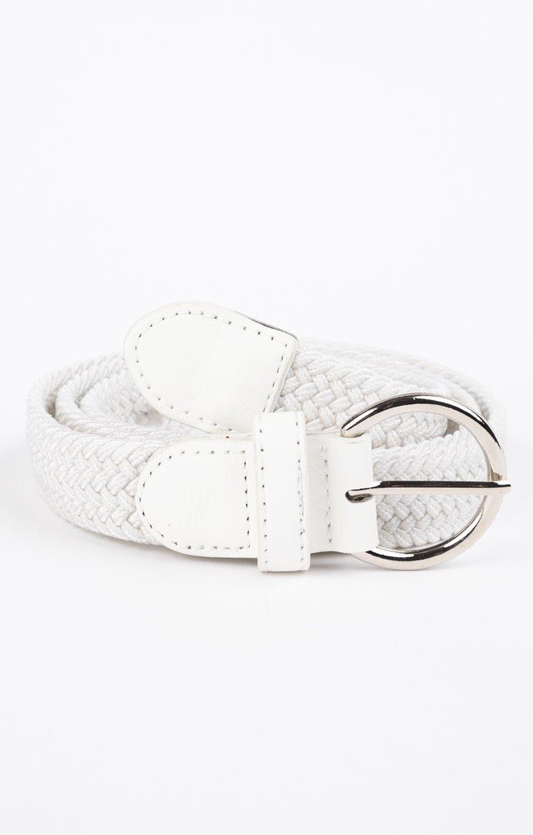 ceinture tressée fine blanche
