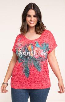tee-shirt ROSE SUNSHINE