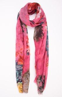 Foulard imprimé all over fleurs rose