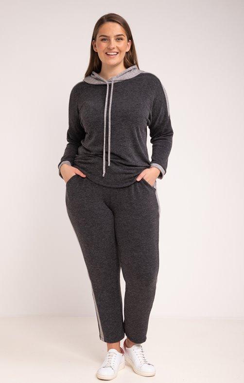Pantalon en maille style jogging bicolor