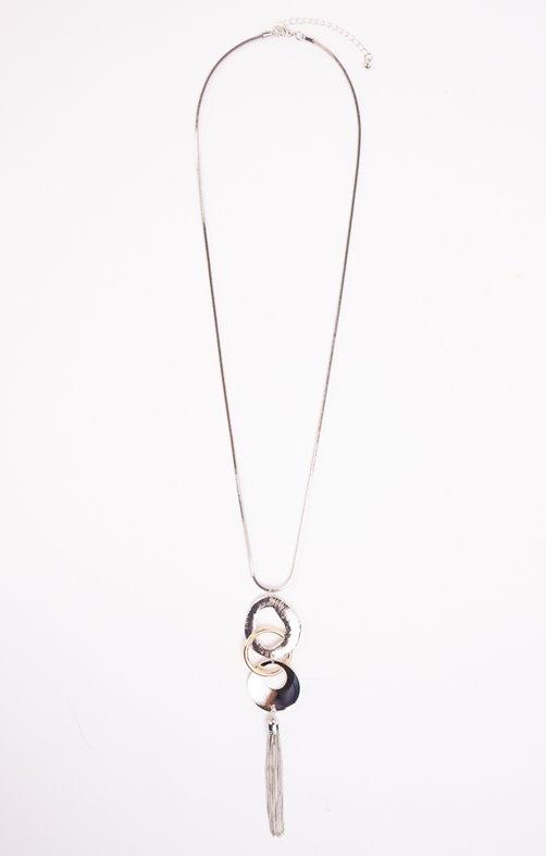 Sautoir 3 anneaux avec pampille métal