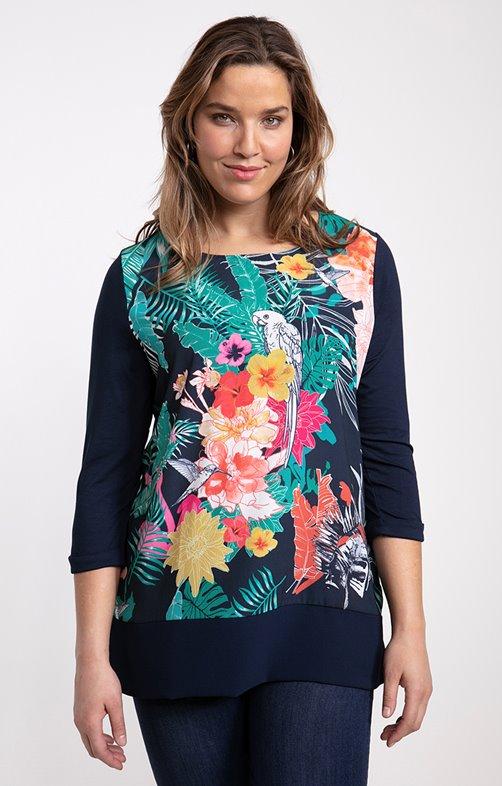 tee-shirt perroquet