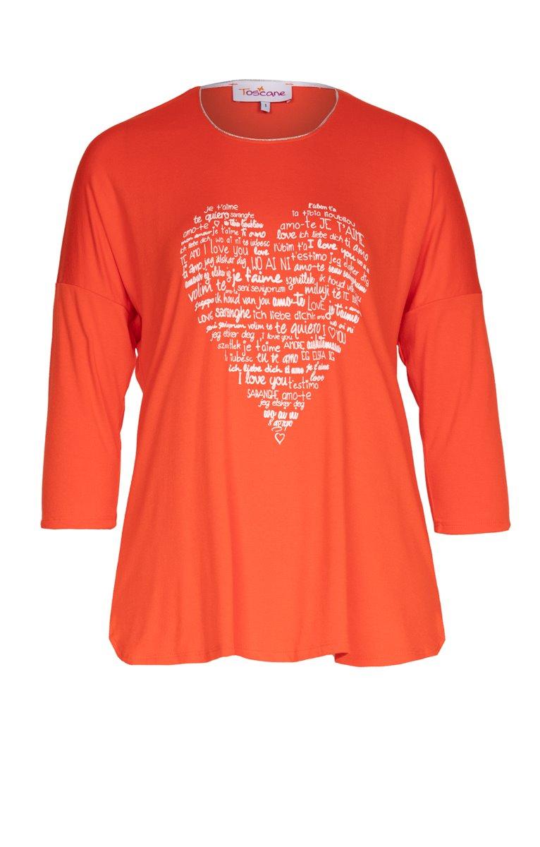 Tee-shirt uni avec motif coeur