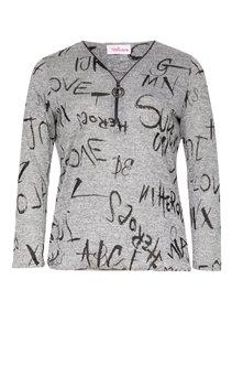 Tee-shirt imprimé écriture avec ZIP