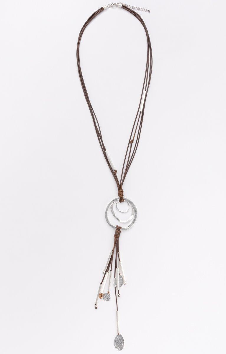 Collier lanières et perles