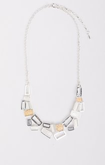 Collier ras de cou rectangles