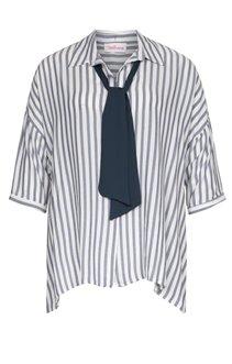 Chemise rayée avec cravate