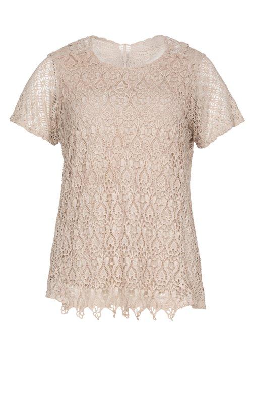 Tee-shirt en dentelle avec doublure