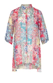 CHEMISE ASYMETRIQUE IMPRIMEE ALL OVER