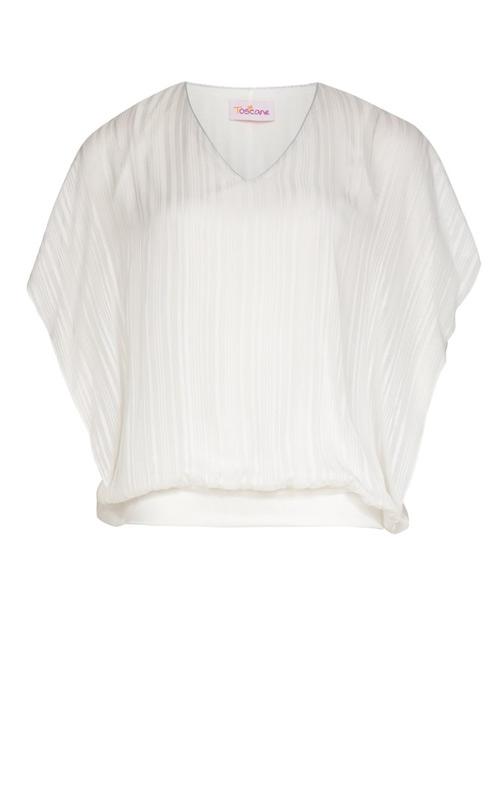 Tunique transparente à rayures