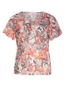 Tee-shirt imprimé fleurs avec strass