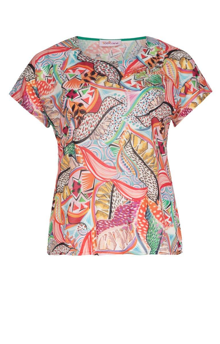 Tee-shirt imprimé avec strass