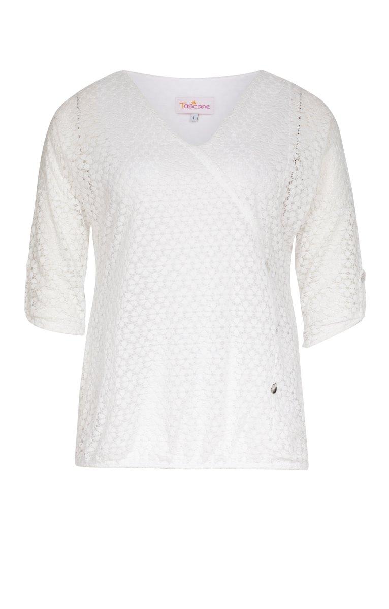 Tee-shirt en dentelle avec boutons