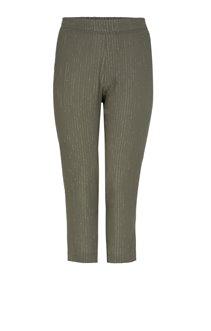 Pantalon crepon uni avec lurex