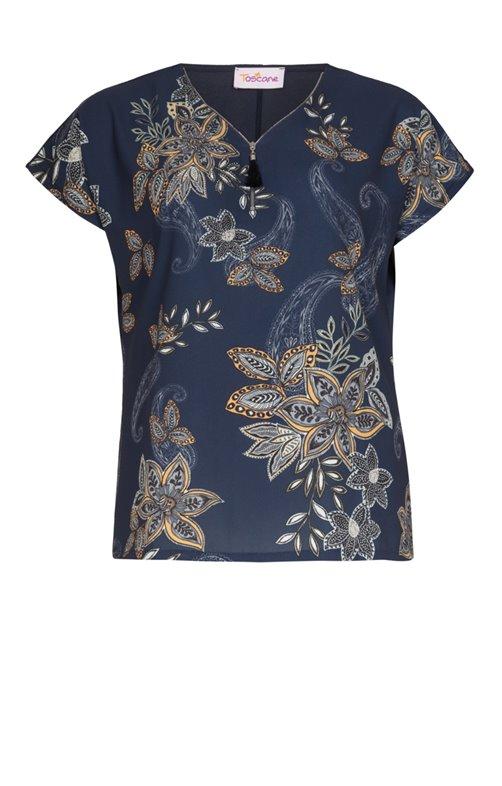 Tee-shirt dessin fleurs avec strass