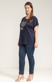Tee-shirt LIN STRASS HIBOU