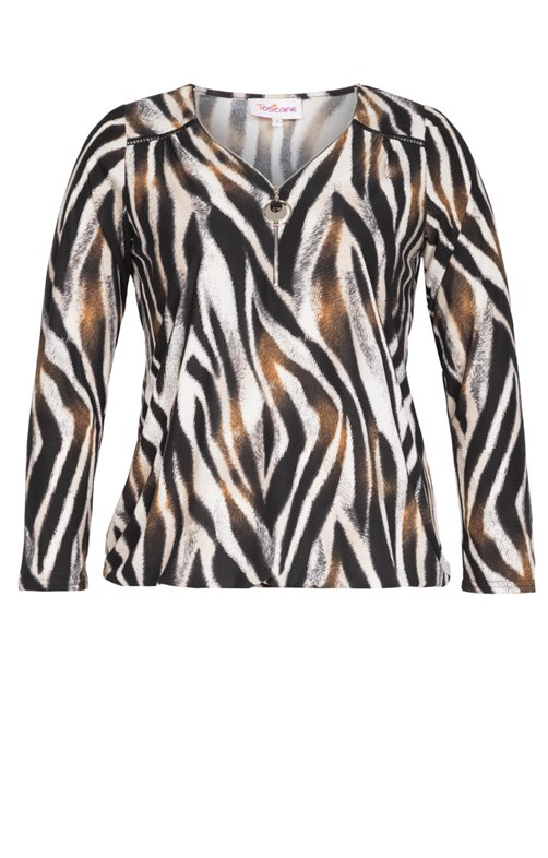 TS ZEBRE MARRON COL V ZIP