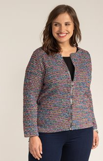 CARDIGAN FANTAISIE ZIPPE