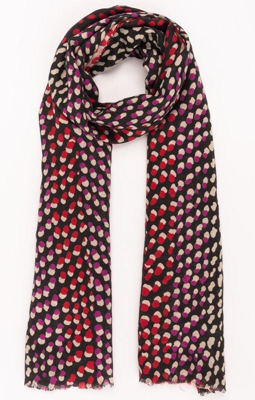 Foulard avec des pointillés rouge/rose